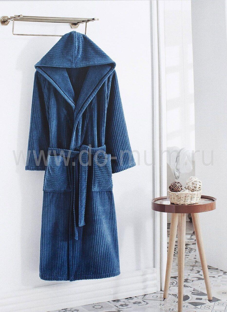 8580503d5df1 Мужской махровый халат с капюшоном STRIPE SOFT COTTON
